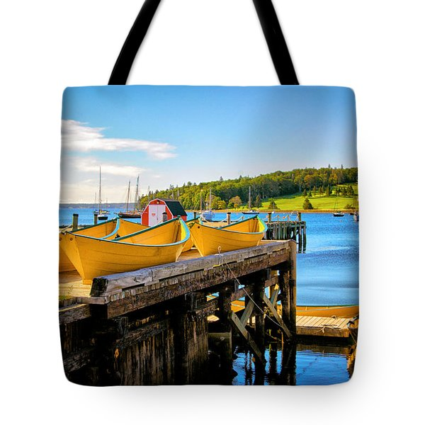 Dories On The Dock Tote Bag