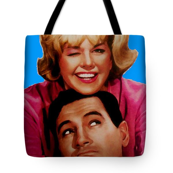 Doris Day Rock Hudson  Tote Bag by Paul Van Scott