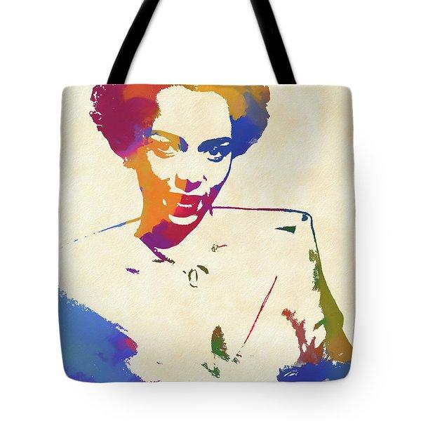 Dorothy Dandridge Watercolor Tote Bag