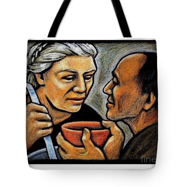 Dorothy Day Feeding The Hungry - Jlddf Tote Bag