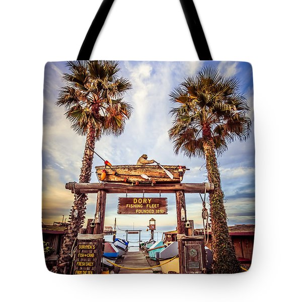 Dory Fishing Fleet Market Picture Newport Beach Tote Bag by Paul Velgos