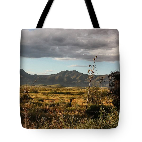 Dos Cabezas Grasslands At Dusk Tote Bag