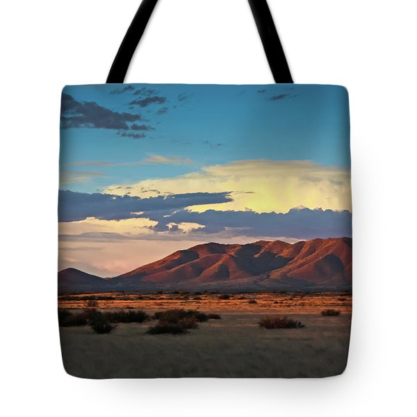 Dos Cabezos Sunset Serenity Tote Bag