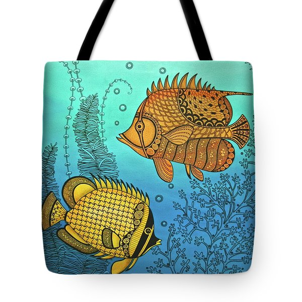 Dos Fishies Tote Bag