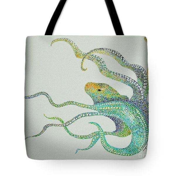 Dot Octopus Tote Bag