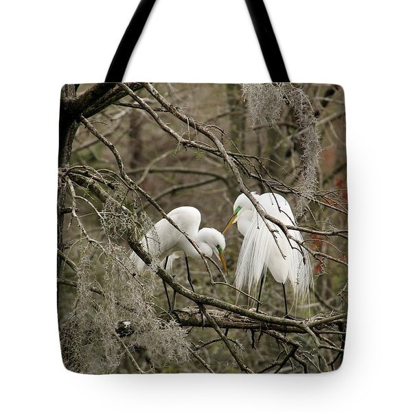 Doting Couple Tote Bag