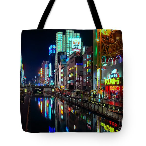 Dotonbori-gawa Canal At Night Tote Bag
