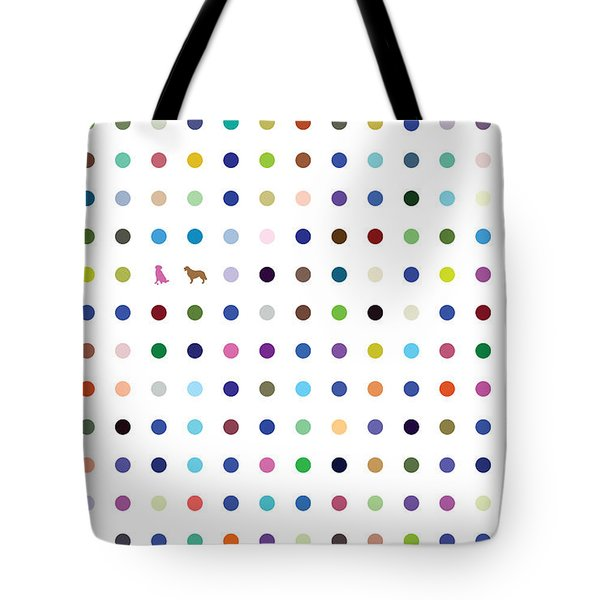 Dots And Dogs Tote Bag