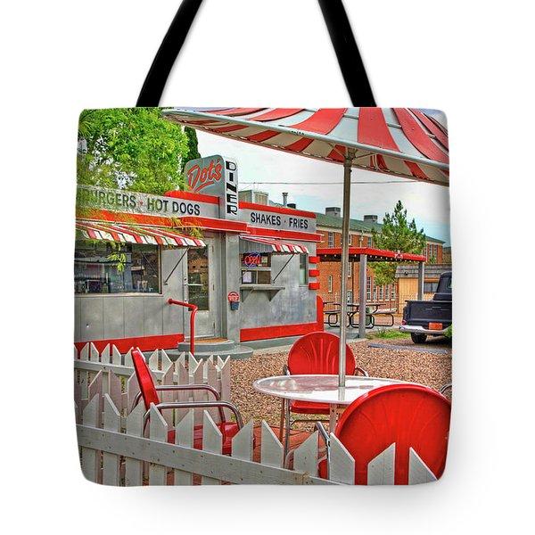 Dot's Diner In Bisbee Arizona Tote Bag