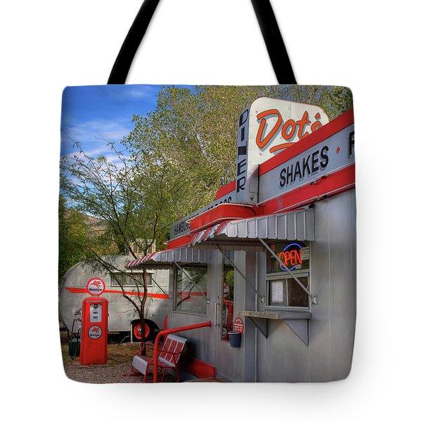 Dot's Diner In Bisbee Tote Bag