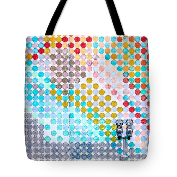 Dots, Many Colored Dots Tote Bag