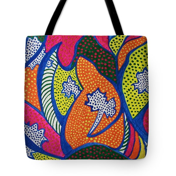 Dotted Forest Tote Bag
