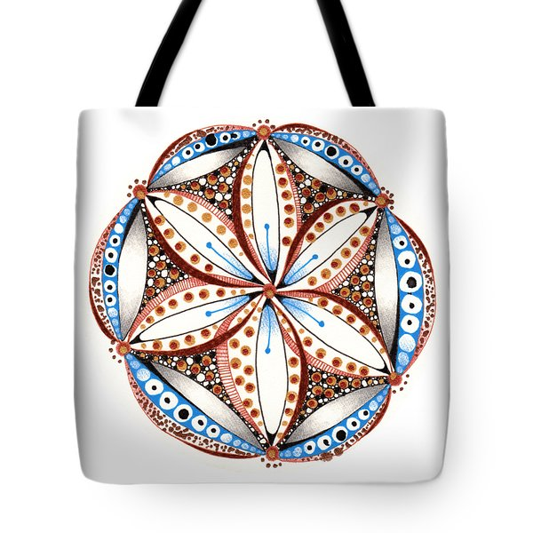 Dotted Zendala Tote Bag