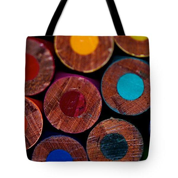 Dotty Tote Bag by Lisa Knechtel