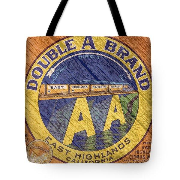 Double A Orange Label Tote Bag