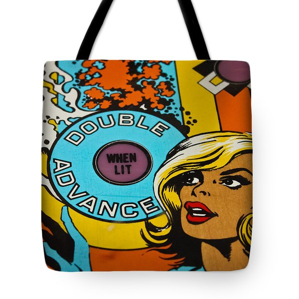 Double Advance - Pinball Tote Bag by Colleen Kammerer