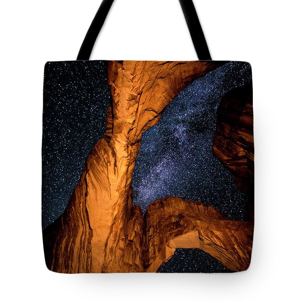 Double Arch And The Milky Way - Utah Tote Bag