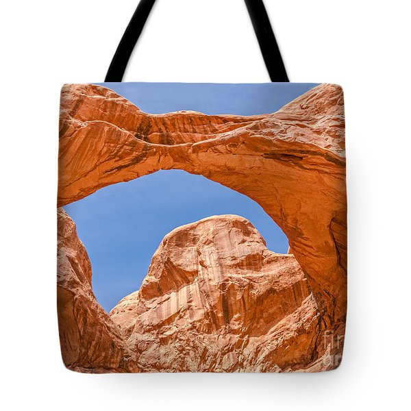 Tote Bag featuring the photograph Double Arch At Arches National Park by Sue Smith