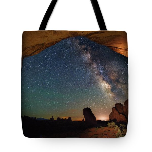 Double Arch Milky Way Views Tote Bag by Darren White