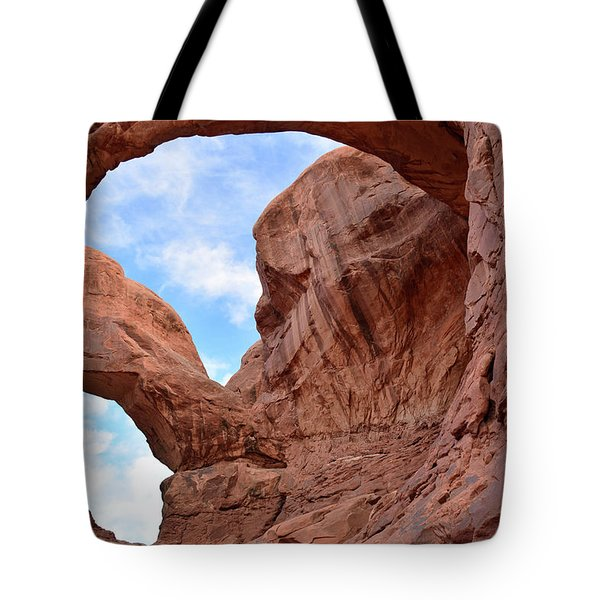 Tote Bag featuring the photograph Double Arch With Curves by Bruce Gourley