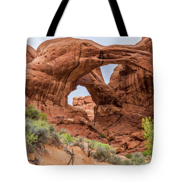 Double Arches, Arches National Park Tote Bag