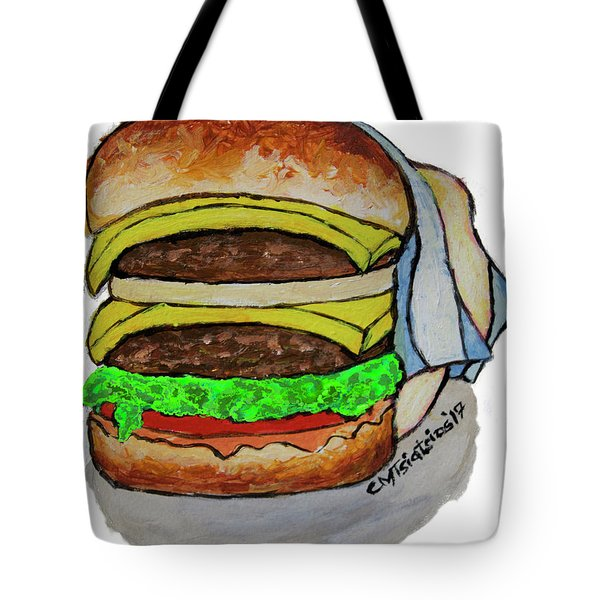 Double Cheeseburger Tote Bag