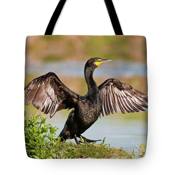 Double-crested Cormorant Tote Bag by Gary Lengyel