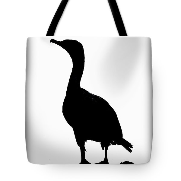 Double-crested Cormorant Silhouette Tote Bag