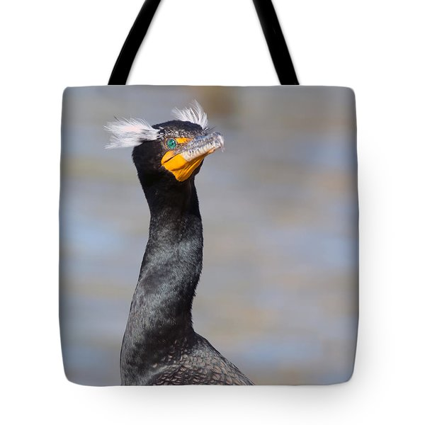 Double-crested Cormorant Tote Bag by Tam Ryan