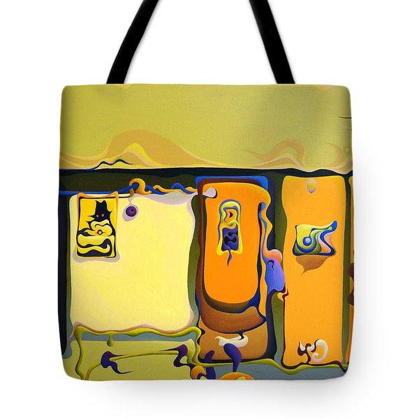 Double Door Power Play Tote Bag