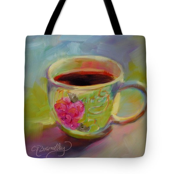 Double Espresso, Please Tote Bag by Chris Brandley