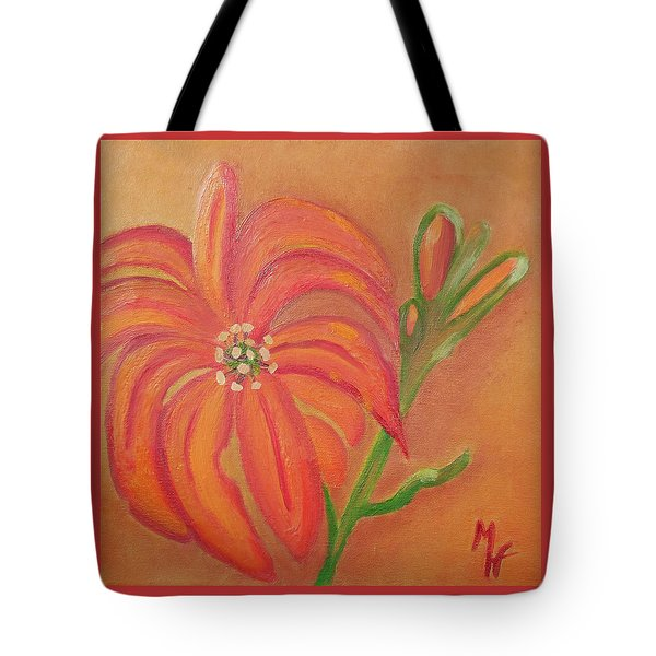 Double Headed Orange Day Lily Tote Bag