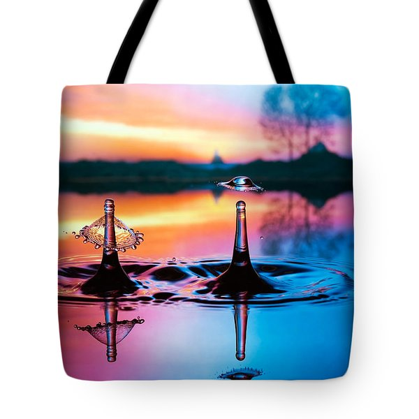 Tote Bag featuring the photograph Double Liquid Art by William Lee