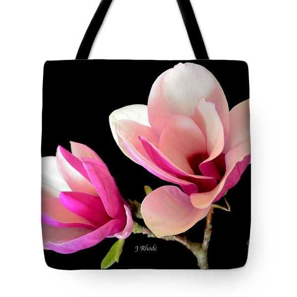 Double Magnolia Blooms Tote Bag
