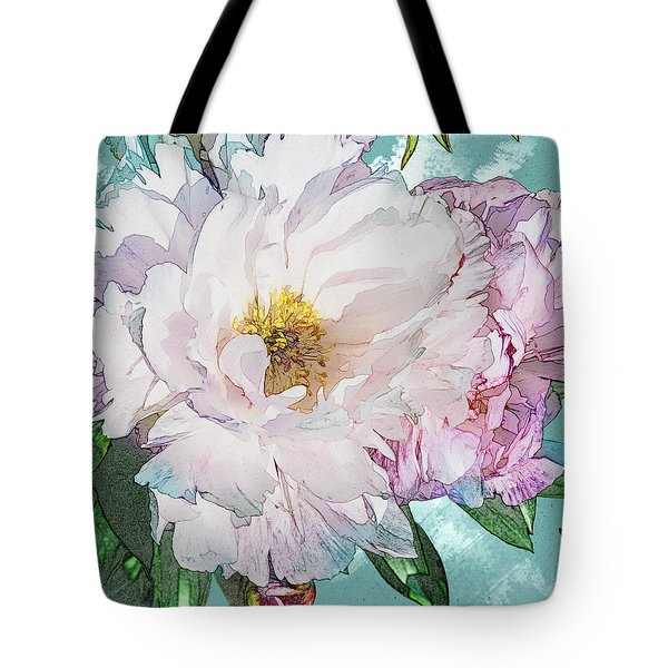 Double Peony Tote Bag