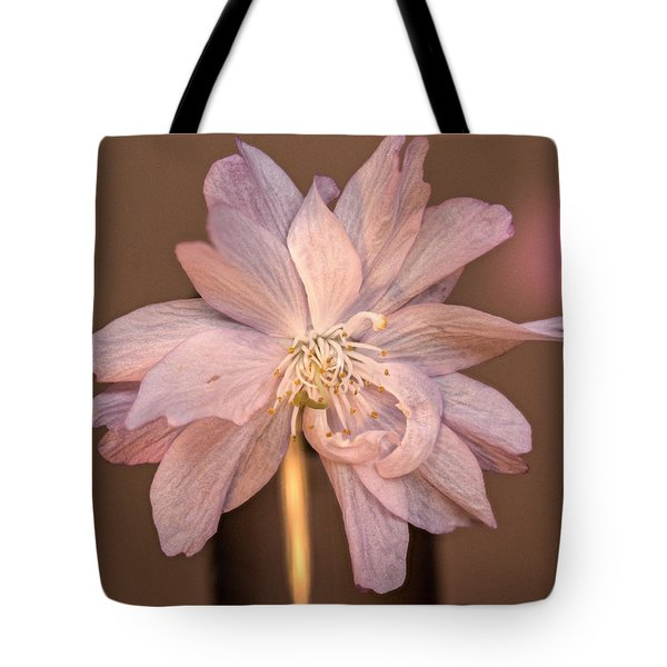 Double Pink Columbine Tote Bag