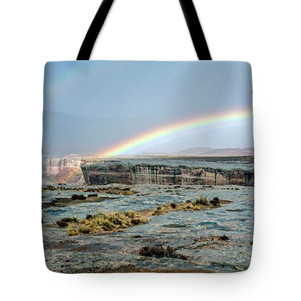 Double Rainbow Tote Bag