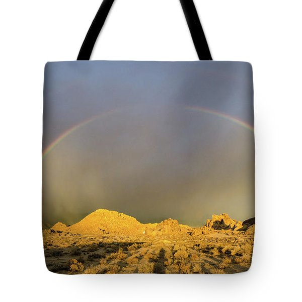 Double Rainbow Gold Tote Bag