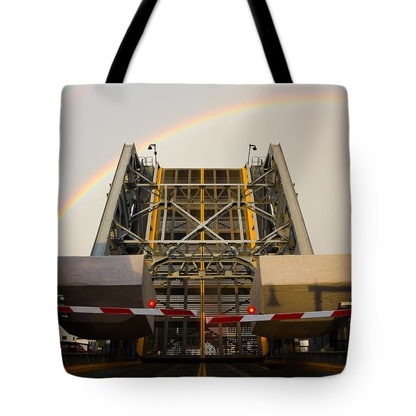 Double Rainbow Mystic Drawbridge Tote Bag