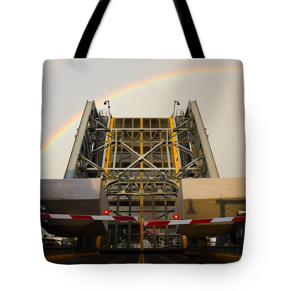 Double Rainbow Mystic Drawbridge Tote Bag