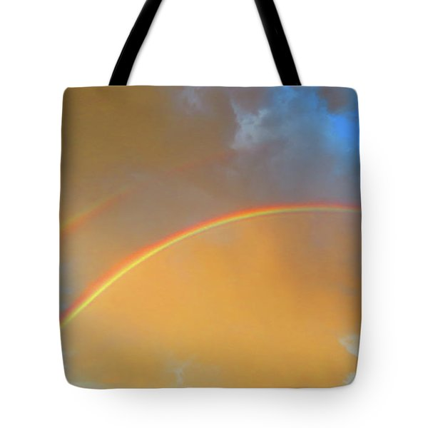 Double Rainbows In The Desert Tote Bag