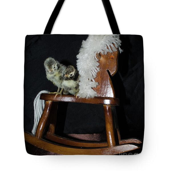 Double Seat Rocking Horse Tote Bag