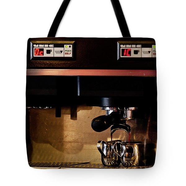 Double Shot Of Espresso Tote Bag