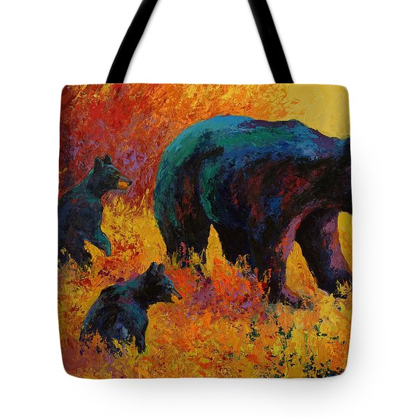 Double Trouble - Black Bear Family Tote Bag