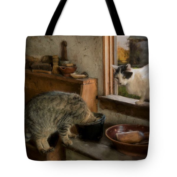 Tote Bag featuring the photograph Double Trouble by Robin-Lee Vieira