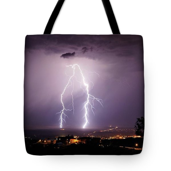 Tote Bag featuring the photograph Double Trouble by Ron Chilston