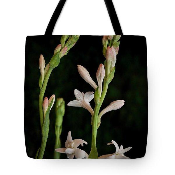 Double Tuberose In Bloom #2 Tote Bag