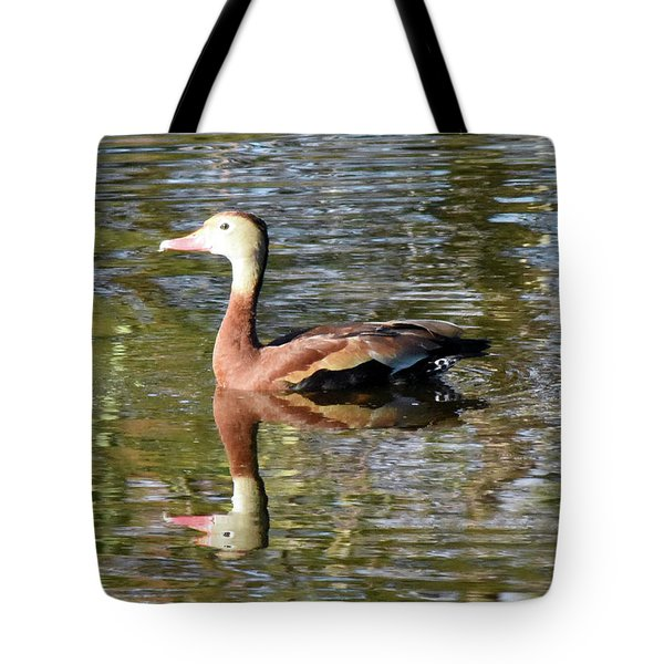 Tote Bag featuring the pyrography Double Vision by Sally Sperry