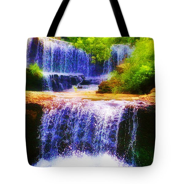 Double Waterfall Tote Bag by Bill Cannon