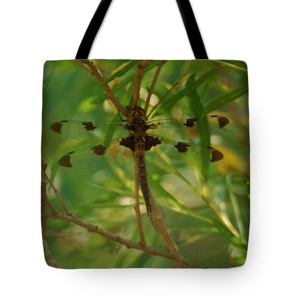 Tote Bag featuring the photograph Double Winged Dragonfly by Ramona Whiteaker